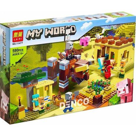 Конструктор LARI Minecraft Патруль разбойников 11477 Аналог LEGO 580