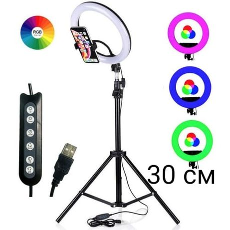 Кольцо лампа для фото, видеосъемки.