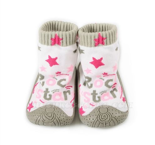 Чорапи/пантофки с гумена подметка