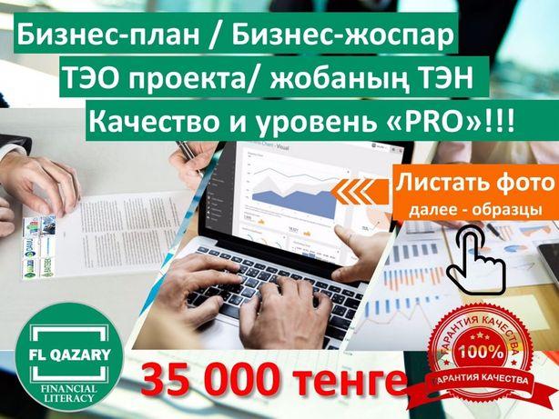 Бизнес план, ТЭО разработка - 35 тыс. тг по фиксированной стоимости!!!