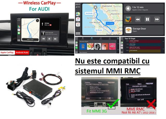 CarPlay Android si Apple Pentru AUDI WAZE Spotify Video in Mers