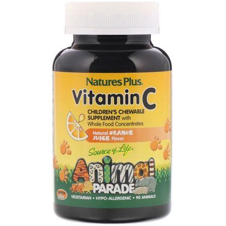 Витамин С для детей, Animal Parade Vitamin C