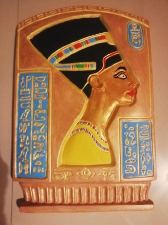 Tablou din ipsos Nefertiti, pictat manual