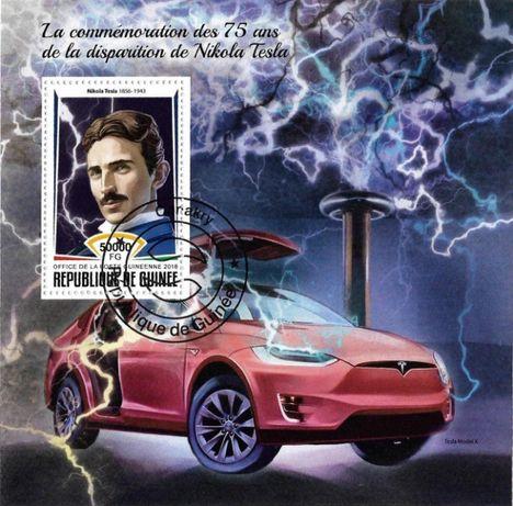 Super timbre colita stampilata masini automobile TESLA. Pret 25 lei