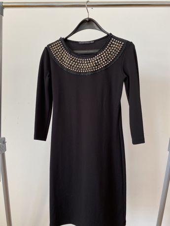 Черна есенна рокля Зара