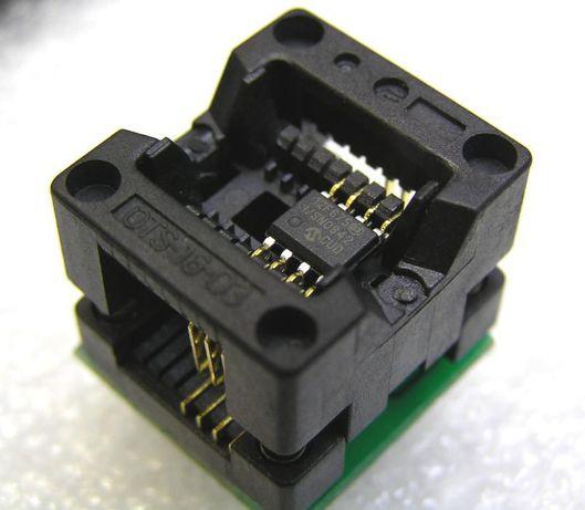 Soclu Adaptor SOP8,SOIC8 to DIP8 Programmer Adapter Socket Converter