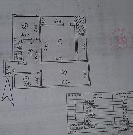 Apartament doua/ 2 camere decomandate / persoana fizica