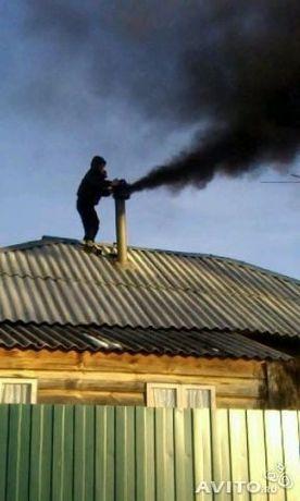 Чистка дымохода печки аппарат новый