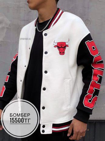Бомбер Chicago Bulls белый