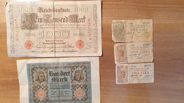 Vând Bancnote Germane/Italienești