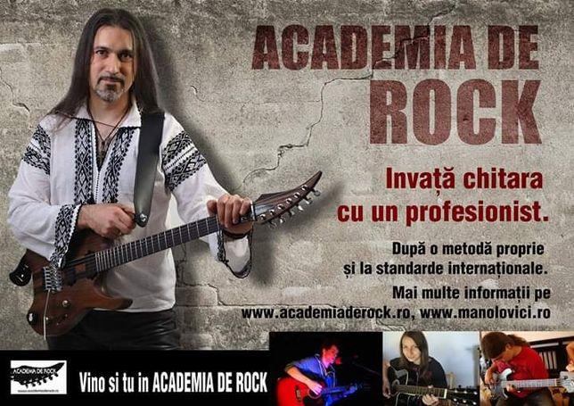 Cursuri chitară online şi fizic Academia de Rock