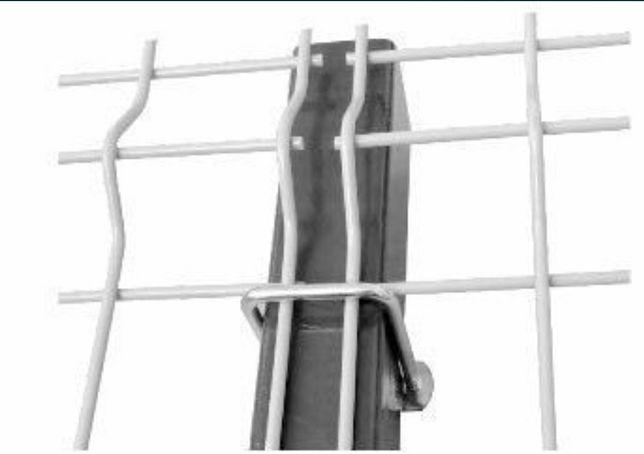Bride 50x50 pt prinderea panourilor de gard pe stâlpi de  fără gaurire