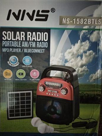 Соларна осветителна система,зареждане, радио,къмпинг осветление литиев