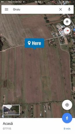 Vând pământ Gruiu Ilfov 8100m
