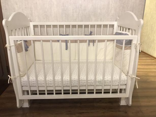 Манеж-кровать Мишутка+ ортопедический матрас+ бортики