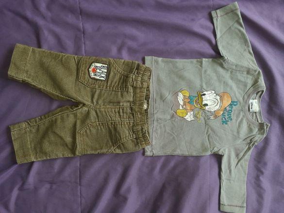 Бебешка блузка и джинси Бенетон