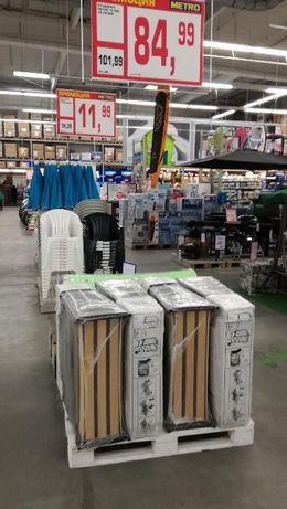 Продавам железни легла със сгъваеми крачка, за деца, дължина 150 см