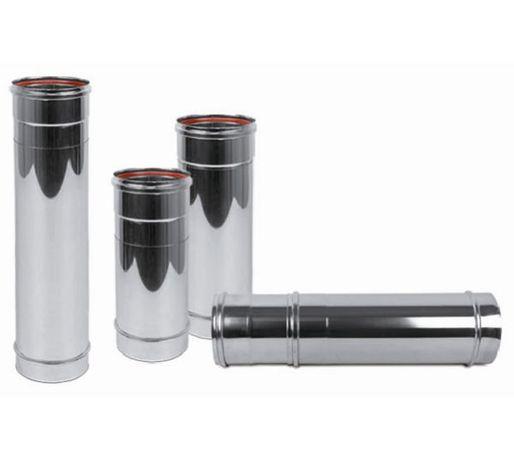 Неръждаем димоотвод 1,0.5, 0.25м. със силиконово улътнение - ИНОКС
