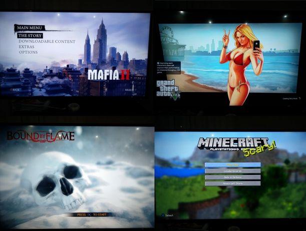 PS3 / Playstation 3 cu 50 jocuri - FIFA 19, GTA 5, Garantie 100 zile
