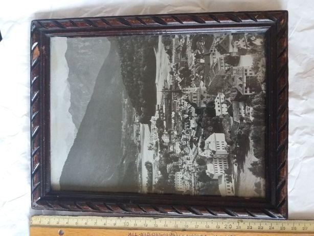 Foto alb negru oras Austria , înramată
