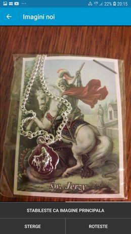 Lant, medalion și iconita Sfântul Gheorghe