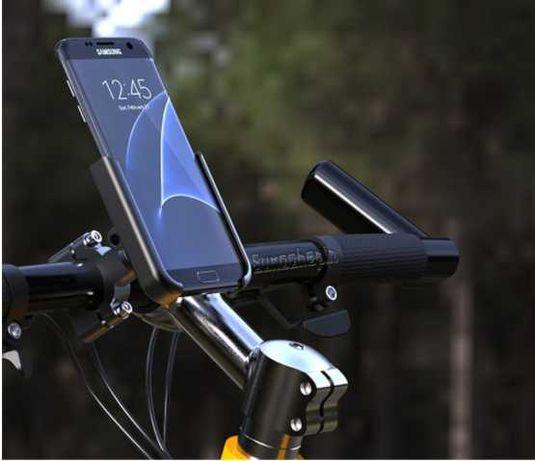 Держатель для смартфона с фиксатором на руль для велосипедов и самокат