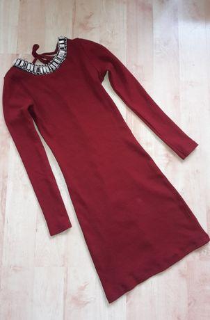 Нова червена рокля с камъчета