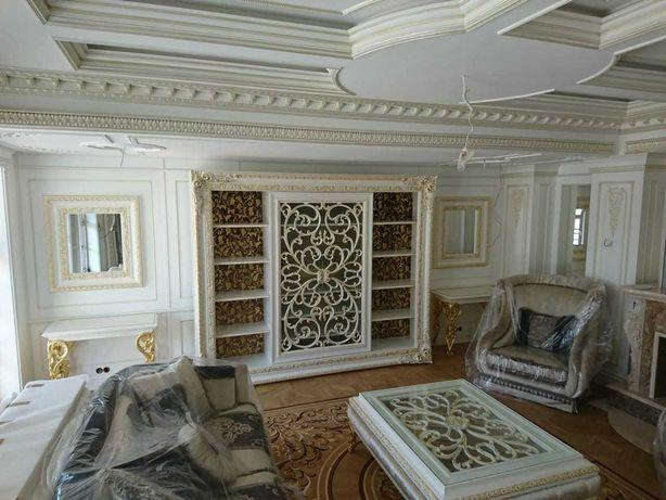 Ремонт квартир в стиле барокко,модерн. Художественные рисунки.