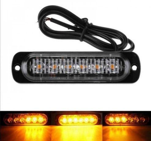 KIT Lampi Stroboscopice 6 LED-uri Auto Moto Utilaje Agabaritic Gabarit
