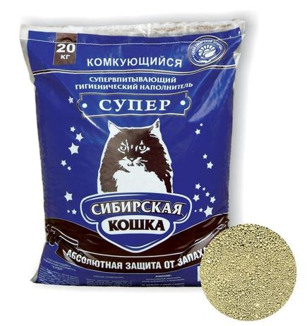 Наполнитель для кошачьего туалета Сибирская кошка, 20 кг