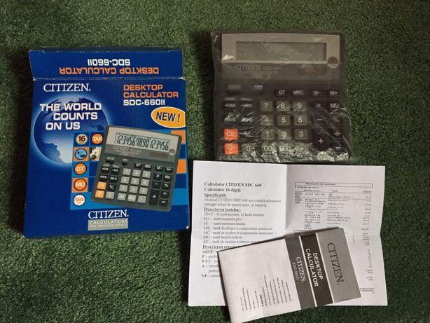 Calculator de birou profesional Citizen 16digits SDC 660 nou la cutie