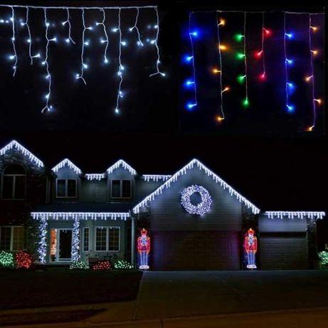 Set 3 x instalatie led 12m,900 LED, 36 m cu franjuri diverse culori