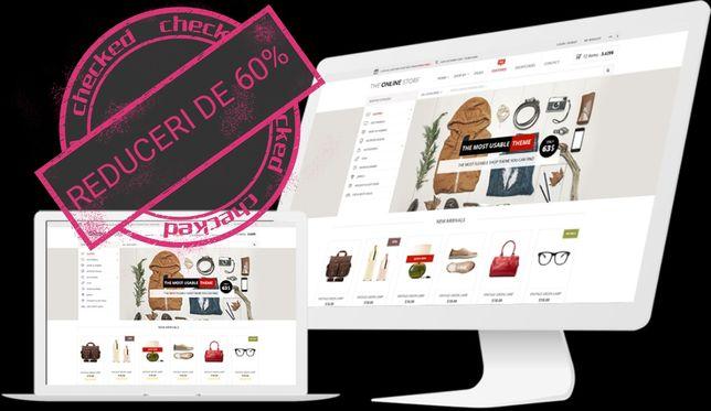 creare site magazin online pagina web Promovare Google Facebook
