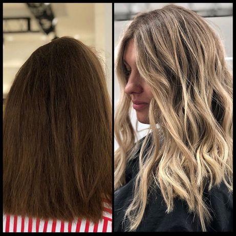 Наращивание волос. Сложное окрашивание. Кератин/ботокс. Прически