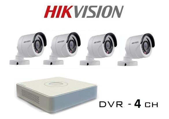 Комплект за видеонаблюдение с 4 HD-TVI/AHD/CVI/CVBS камери HIKVISION