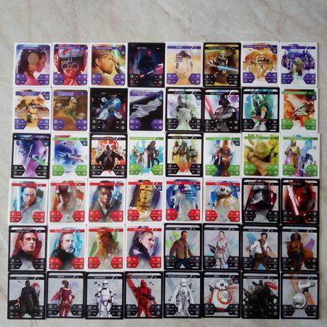Нов не разпечатан от целофана албум STAR WARS в комплект с 48 карти .
