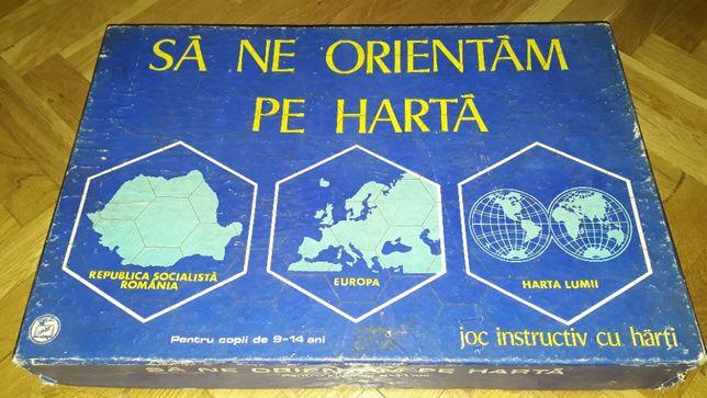 Sa ne orientam pe harta, joc vechi romanesc, perioada comunista