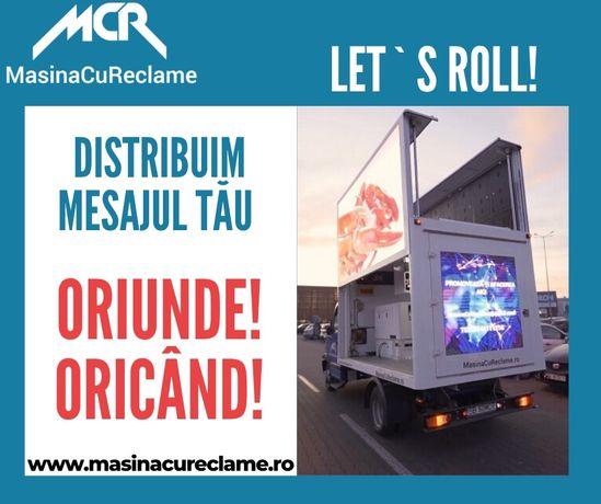 Masina Cu Reclame- Autospeciala LED de reclame - LED VAN - LED Display