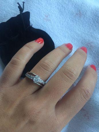пръстени сребърни и бяло злато