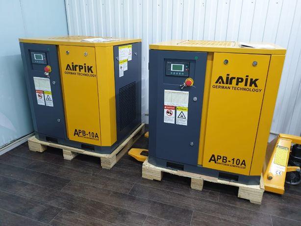 Компрессор винтовой APB-10A, -1,1 куб.м, 7,5кВт, AirPIK