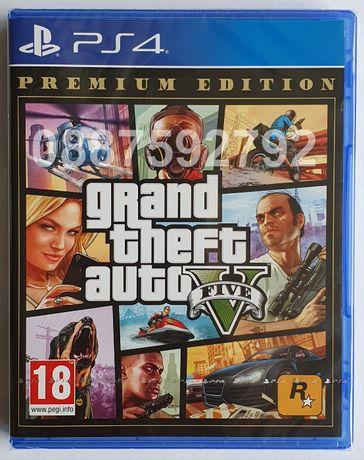 Нов запечатан диск GTA 5 Grand Theft Auto V Premium PS4 Playstation 4
