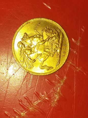 Moneda de aur de 22 k.1913