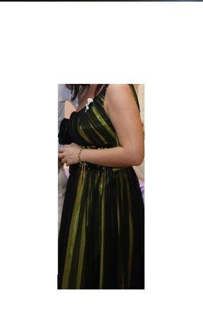 Rochie de seara negru/galben