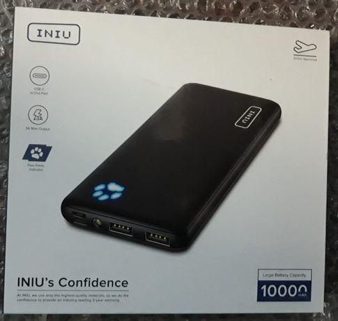 Power Bank 10.000mAh, 5V-3A, USB, USB-C, MicroUSB, -noua , sigilata