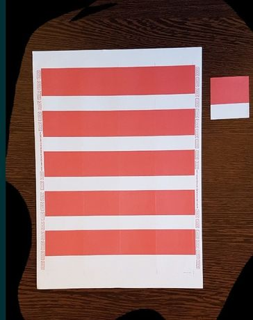 Etichete autocolante hartie predecupate colturi, in 2 culori,stare noi