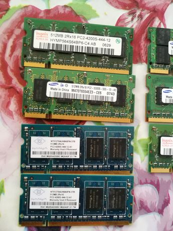 Рам памет ddr2 laptop 1 гб,512 мб