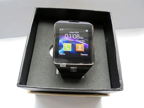 Smartwatch (cartela SIM,camera,notificari facebook,whatsApp)Ceas Negru