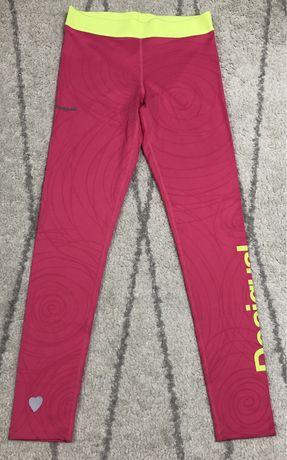 Colanti sport roz desigual pantaloni sport iegari colanti fitness