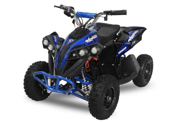 Mini ATV Eco Avenger 1000W 36V cu 3 Trepte de Viteza #Albastru