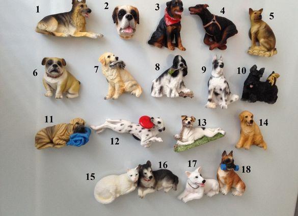 Куче релефен магнит за хладилник - различни породи